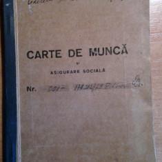 Carte de munca cu timbru de viza bucuresti 1946 + foaie de cotizare 1946 - Diploma/Certificat