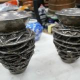 VASE 2 MINI METAL - Metal/Fonta