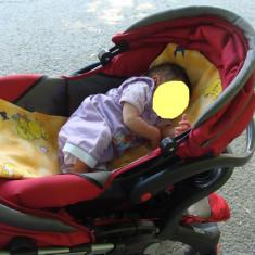Carucior copii Baby Care 2 in 1 - Carucior copii 2 in 1 Baby Care, Altele, Pliabil, Multicolor, Maner reversibil