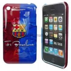 Husa FC Barcelona   iphone 2 3 3gs + folie protectie ecran