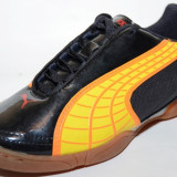 Ghete fotbal sala Puma, 10183306, ORIGINALE, negru, portocaliu, Marime: 35.5, 42
