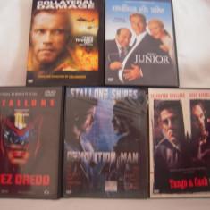 Vand 5 dvd originale cu Stallone si Arnold, filme diferite, netraduse!! - Film actiune Altele, Engleza