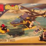 Jucarie echipa de interventie si salvare, tip lego, elicopter barca atv, Enlighten 106