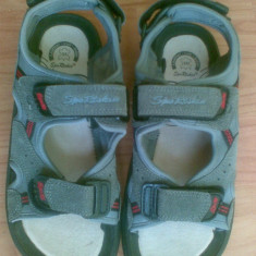 Sandale din piele marimea 35, sunt noi! - Sandale copii, Culoare: Gri, Baieti, Gri