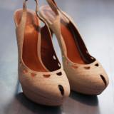 Pantofi dama ZARA, marimea 40, impecabili, purtati o singura data, Marime: 40, Crem