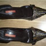 Pantofi piele dama Patrizia Rigotti marimea 39 - Pantofi dama, Culoare: Coffee, Maro