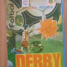 Fanion fotbal - PROGRAM - MECIUL DINAMO BUCURESTI - STEAUA BUCURESTI - 3 DECEMBRIE 1988