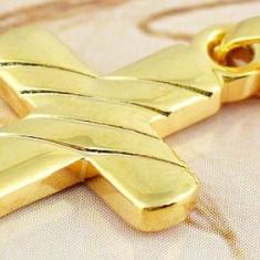 CRUCIULITA AUR FILAT 9 K CU ZIRCONIU ALB - Inel placate cu aur