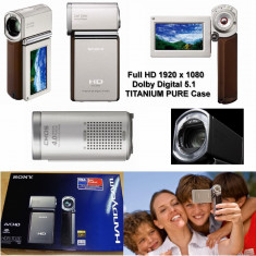 Videocamera SONY cea mai compacta Full HD 5.1 TITANIUM pur NOUA camera video - Camera Video Sony, Card Memorie