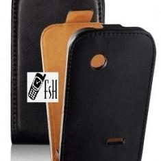 HUSA SLIM FLIP - SAMSUNG Galaxy Fame S6810 - Husa Telefon Samsung, Negru