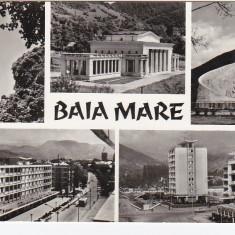 Carti Postale Romania dupa 1918 - RPR, CP circulata 1968, Baia Mare, colaj
