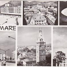 Carti Postale Romania dupa 1918 - RPR, CP circulata 1966, Baia Mare, colaj
