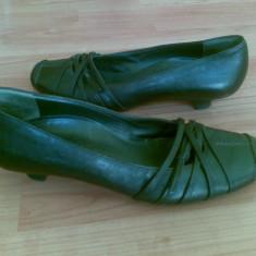 Pantofi din piele firma Paul Green marimea 39, aproape noi, arata impecabil! - Pantof dama Paul Green, Culoare: Negru