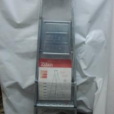 Scara/Schela constructii - Scara aluminiu 2+1 trepte, schele