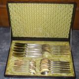 Metal/Fonta - ...Set antic superb de tacamuri 24 de piese din material argintat