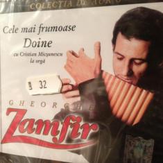 GHEORGHE ZAMFIR - CELE MAI FRUMOASE DOINE (A & A REC.- CD NOU, SIGILAT) - Muzica Populara a&a records romania