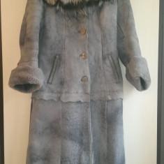 Haine dama - Cojoc de blana din vulpe argintie deosebit