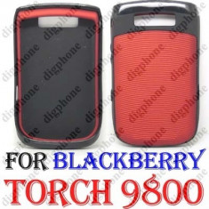 Blackberry Torch 9800 husa rosie negru originala + folie ecran + expediere gratuita protectie antiradiatii