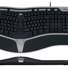 Tastatura Microsoft Natural Ergonomic 4000, Ergonomica, Cu fir, USB