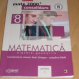Matematica clasa a VIII-a - culegere algebra, geometrie /  2 volume