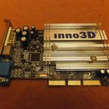 Placa video GeForce FX5500 Inno3D AGP 8x - DEFECTA - Placa video PC, 256 MB, nVidia
