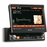 "Unitate multimedia format 1DIN cu ecran tactil de 7 motorizat Alpine IVA-D511R"" - DVD Player auto"