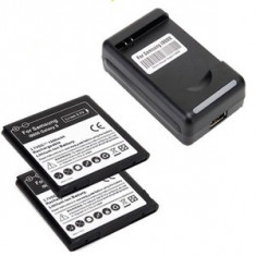 Incarcator telefon Samsung, De priza - Incarcator priza + 2 Acumulatori noi samsung i9000 9001 gt galaxy s