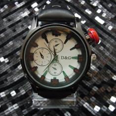 Ceas Barbatesc Dolce & Gabbana - Ceas D&G Dolce Gabbana curea neagra perforata + cutie cadou model 2015
