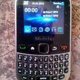 DUAL SIM MOBILE 9320 TV - Telefon mobil Dual SIM, Negru, Nu se aplica, Neblocat, Fara procesor