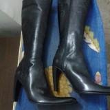 Cizme de piele cu model productie BAGAT Italia - Cizme dama, Marime: 36, 38, 39, 40, Culoare: Negru