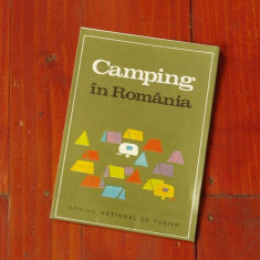 Pliant Camping in Romania - oficiul national de turism 1970 harta si prezentare - Harta Romaniei