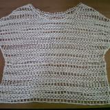 Bluza crosetata superba - Bluza dama, Culoare: Crem