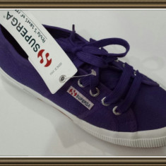 OFERTA! Tenisi panza mov dama SUPERGA ORIGINALI People's shoes of Italy Sz 37 - Tenisi dama Superga, Textil