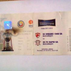 Dinamo Bucuresti - Rapid Bucuresti (23 mai 2012) / Cupa Romaniei - Program meci