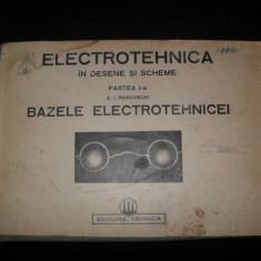 Electrotehnica in desene si scheme, partea I-a, E.I. Rasovschi, Bazele electrotehnicei - Carti Electrotehnica