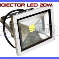 Iluminat exterior ZDM - PROIECTOR REFLECTOR LED 20W ECHIVALENT 200W, 1800 LUMENI, IP65, 220V, ALB RECE