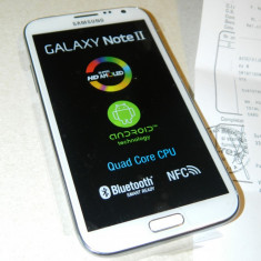 *OCAZIE* telefon Galaxy NOTE II, impecabil, cu garantie - Telefon mobil Samsung Galaxy Note 2, Alb, 16GB, Neblocat