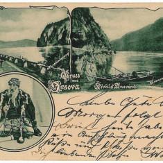 3218 - L i t h o, ORSOVA - old postcard - used - 1901 - Carte Postala Oltenia pana la 1904, Circulata, Printata
