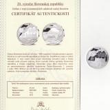 Medalie - Republica Slovaca - A 20-a Aniversare a Republicii Slovace - Proof - Argint