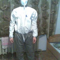 Costum de protectie - material impermeabil marimea M - Costum barbati, Marime: 46, Culoare: Gri