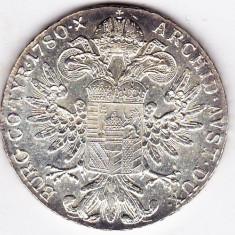 Monede Straine - 4) Austria Taler Thaler Maria Tereza Theresa S.F.=rebatere postuma dupa 1780 argint 28 grame, 40 mm, a.UNC/UNC