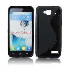 Husa ORANGE Hiro Alcatel One Touch Idol Mini OT-6012 OT-6012D TPU S-LINE Black, Negru, Gel TPU, Carcasa, Fara snur
