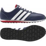 Adidas V Racer Albastru-alb - Adidasi barbati, Marime: 43, 43 1/3, 44, Culoare: Din imagine