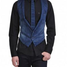 Vesta barbati, Bumbac - Vesta si cravata blugi ck Calvin Klein Jeans 100% originala marimea L excelent la camasa super pret