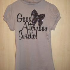 Bluza, top, dama de la ZARA, Marime S, 100% originala, autentica, 100% bumbac - Bluza dama, Marime: S, Culoare: Gri