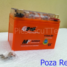 Acumulatori Moto - Baterie / acumulator moto scuter 12v ( volti ) 4A ( amperi ) 12 v 4 A ( GEL )