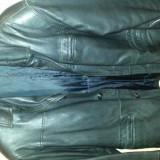 Haina piele neagra - Geaca barbati, Marime: 52, Negru, Piele