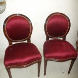 Mobilier - Set de 6 superbe scaune stil cu tapiserie din catifea impecabile, pretul pt. 6 buc.