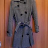 Palton dama, Gri, Marime: 38, Lana - Palton Kenvelo masura M