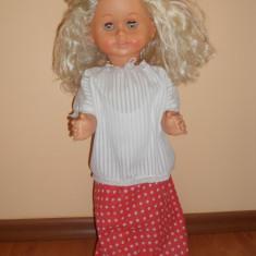 Papusa ARADEANCA .Dimensiune mare 60 cm. (Romania, Vintage, vechi, De colectie, epoca comunista Ceausescu) Anii 80-90. - Papusa de colectie